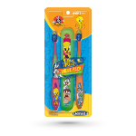DenTek Looney Tunes Kids Toothbrush (2 count package with storage case)