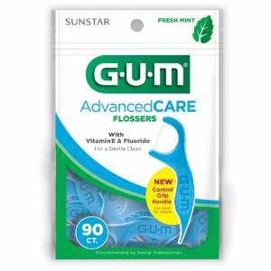 GUM Advanced Care Eez-Thru Flossers with Vitamin E and Fluoride 888