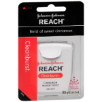 Johnson & Johnson Reach Cleanburst Cinnamon Waxed Floss