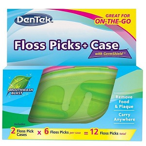 DenTek Comfort Clean Floss Picks + Case for On-the-Go