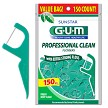 GUM Professional Clean Mint Flossers Sunstar Butler GUM 150ct.