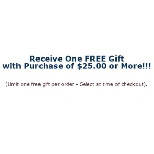 Free Gift For Orders Over $25